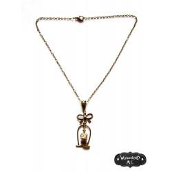 """Collier bronze noeud """"Royal Bird"""""""
