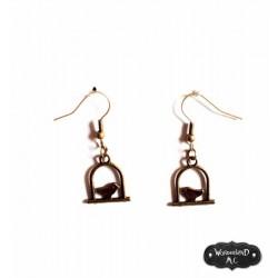 """Boucles d'oreilles """"L'Oiseau de Bronze"""""""
