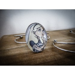 Bracelet camée tattoo trash ♰Alice au pays des merveilles♰