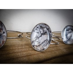 Bracelet camée steampunk gypsy bohème ♰Bohemian Foxy♰