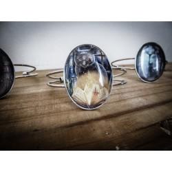 Bracelet cabochon evil cat esoteric ♰Wicca Cat♰