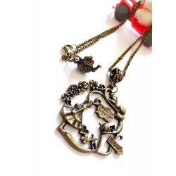 "Collier steampunk bronze ""Alice in Wonderland"""