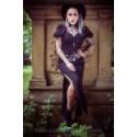 Chapelet rosaire perles noires argenté Les 7 péchés capitaux ♰ Gourmandise ♰