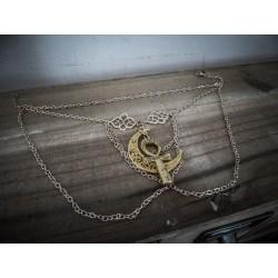 Bracelet doré avant bras tiny égyptien lune ♰Ankh♰