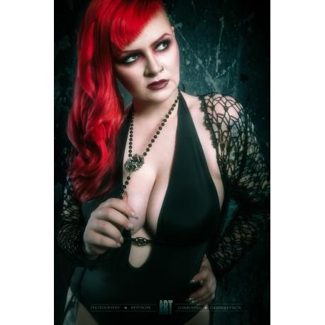 Chapelet rosaire perles noires argent les 7 p ch s for Jardin 7 peches capitaux