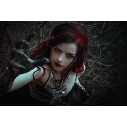 Collier maxi plastron lune argenté deer Katniss Everdeen ♰Hunger Games♰