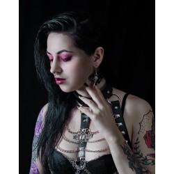 """Harnais chaines noir argenté """"666 Goth Cleopatra 666"""""""