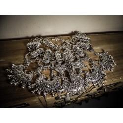 Collier plastron tribal dentelle Croix Glam Diamond Fashionista