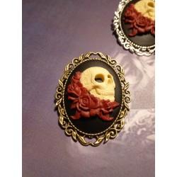 Broche bronze camée Mexican Sugar Skulls calavera gypsy bohème ♰Gothika♰