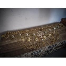 Casquette steampunk doré googles egyptien Spike Goth