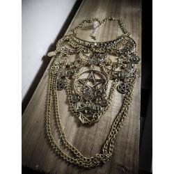 Couronne argentée fleur diamant Azariah Moonstone