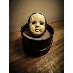 Bague ajustable bronze camée Horror Baby