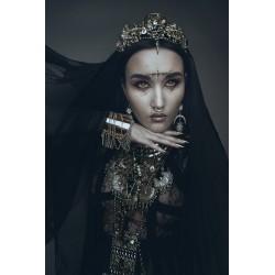Couronne dorée pentagram skullbird 666 Natalie Shau 666