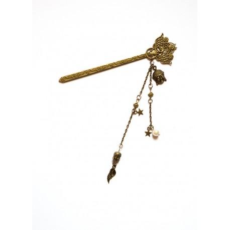 Pic à cheveux bronze chignon Geisha Kyoto Little Buddha
