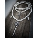 Collier perles ivoire Sailor Anchor Jade