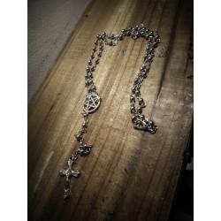 Chapelet rosaire acier mixte 666 Tiny Cross 666